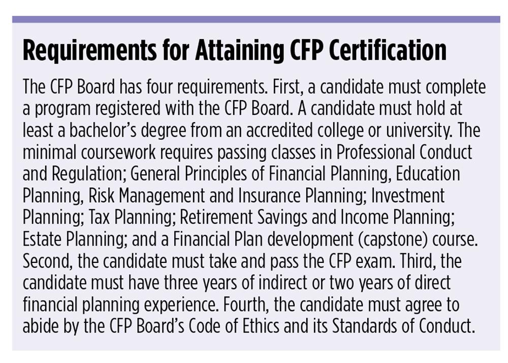 online cfp program requirements