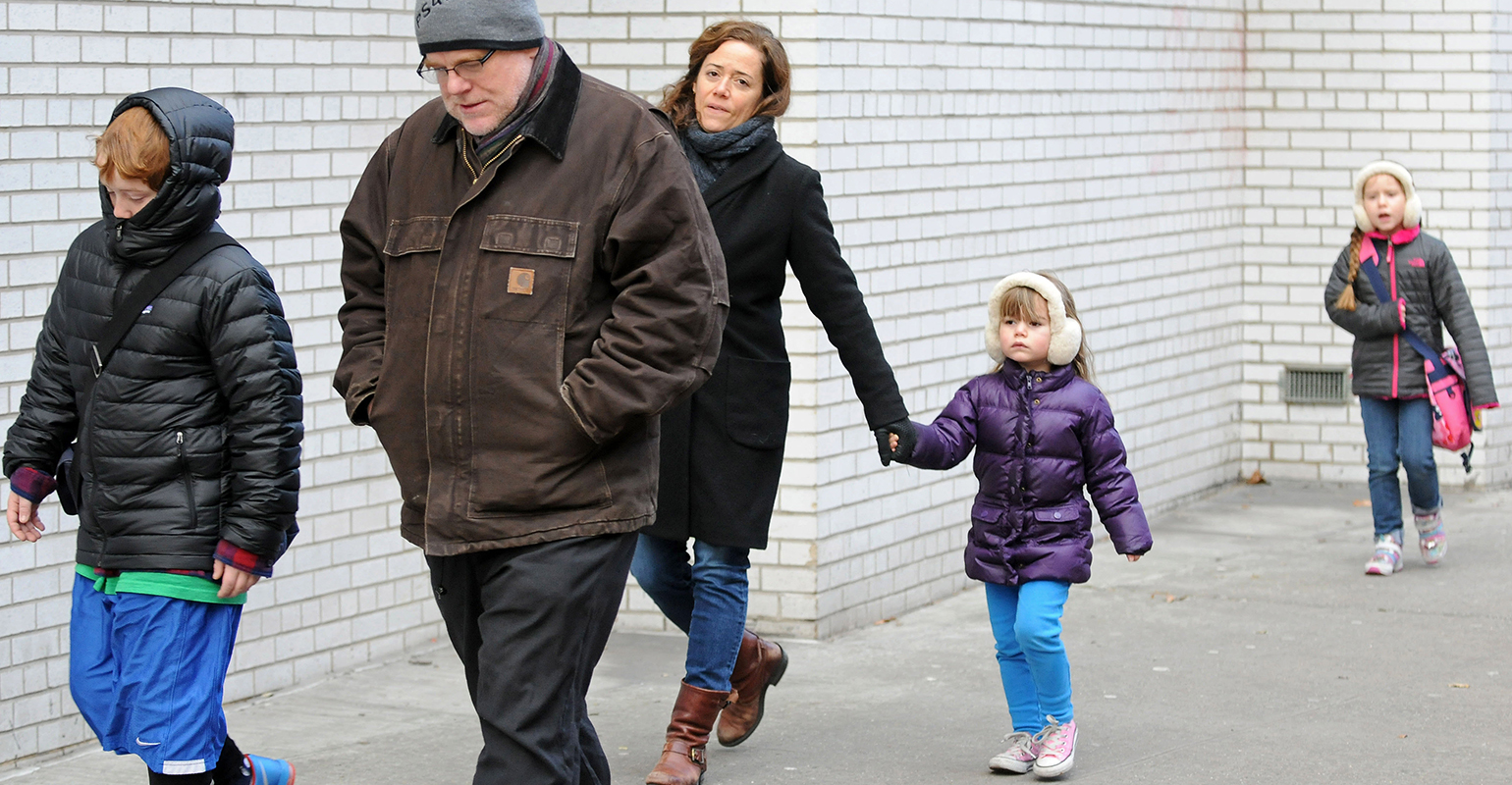 Philip Seymour Hoffman, Mimi O'Donnell and kids