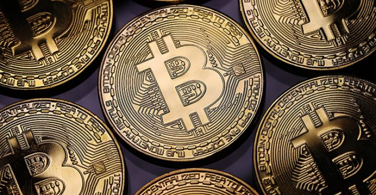 A sheet of Bitcoin images.