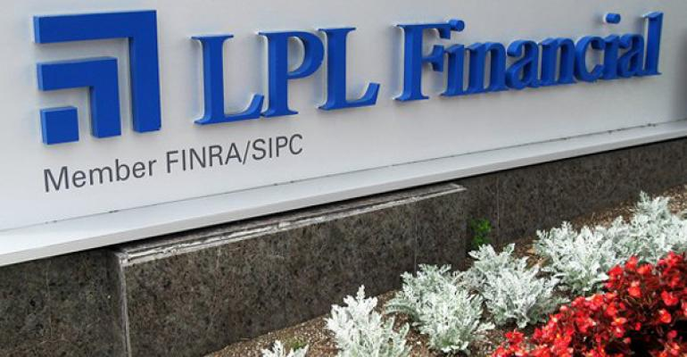LPL racked up 11181 advisors in 2012