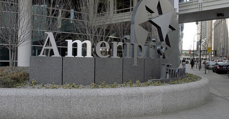 Ameriprise came in second with 7540 advisors last year