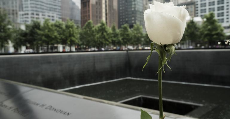 9/11 memorial flower