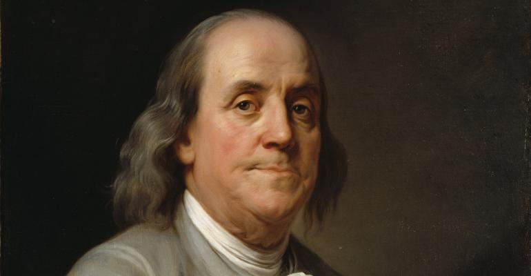 Inventor statesman and founding father Ben Franklin left several interesting bequests following his death on April 17 1790 at the age of 84 To his daughter he left his printing press business as well 408 diamonds Franklin asked that she not have them made into jewelry ldquoand thereby introduce or countenance the expensive vain and useless fashion of wearing jewels in this countryquot The will also left Franklinrsquos soninlaw his musical instruments on the condition that his slave named