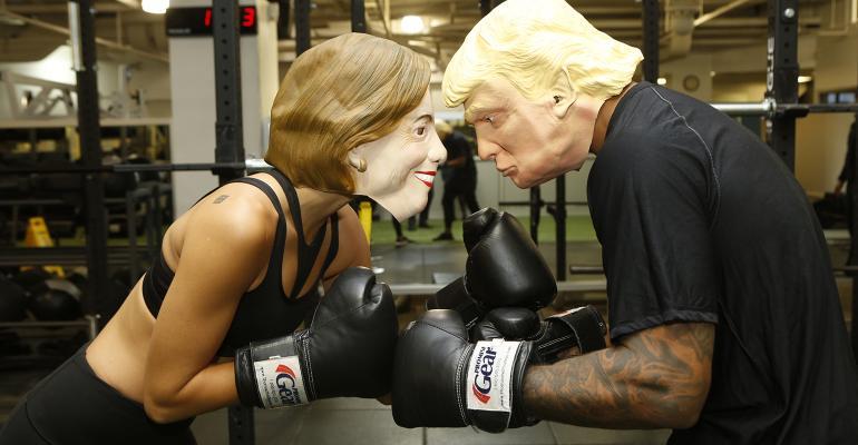 Clinton Trump boxing
