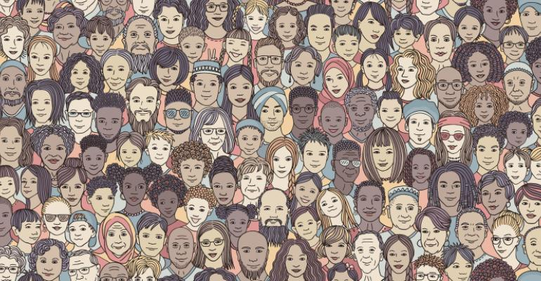 illustration of a group of people showing diversity