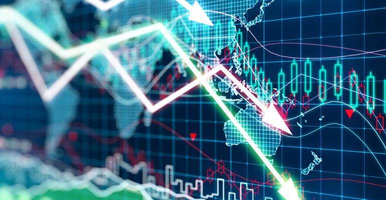stock markets chart going down