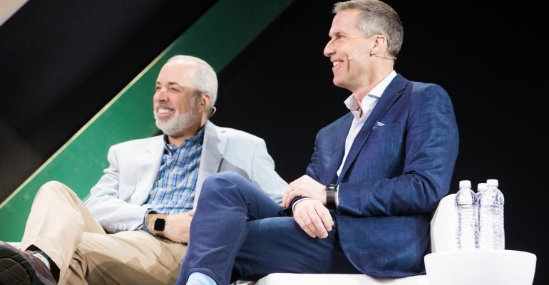 Ric Edelman, executive chairman of Edelman Financial Services, and TD Ameritrade President and CEO Tim Hockey.