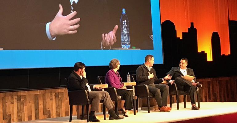 Jacob Nichols, Marjorie Mann, Richard Clegg and Josh Dietch at the 2018 NAPA 401(k) Summit in Nashville.