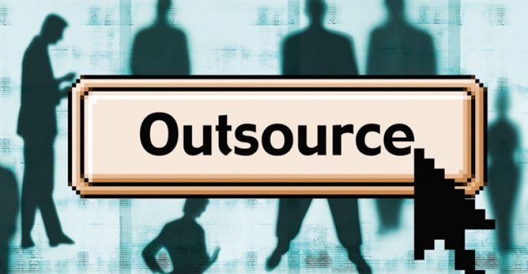 Almost 40 percent of firms polled do not outsource any portion of their business Those highperforming firms that do concentrated their outsourcing on areas like data reconciliation and financial reporting that wouldnt affect client relationships That gave inhouse advisers more time to focus on client strategy