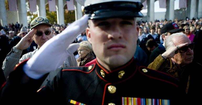 military veterans soldiers salute