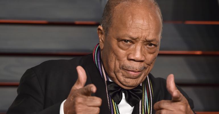 Quincy Jones hands