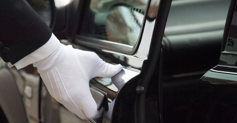 White Glove Opening Car Door