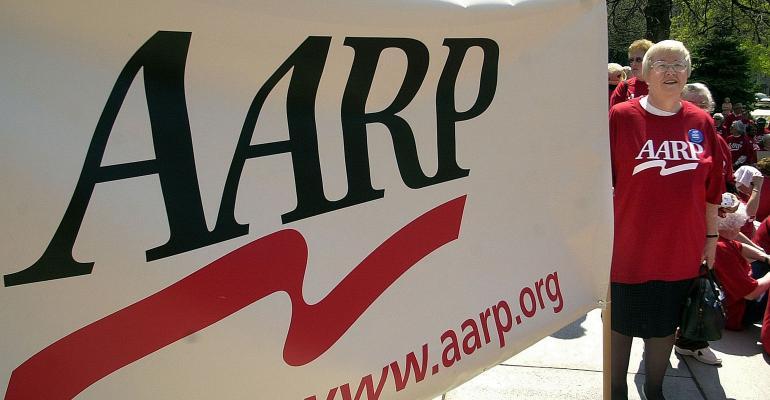 AARP sign