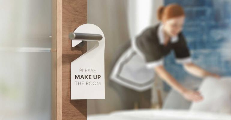 hotel room maid