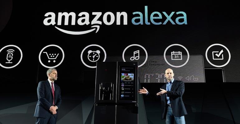 Amazon Alexa LG smart fridge