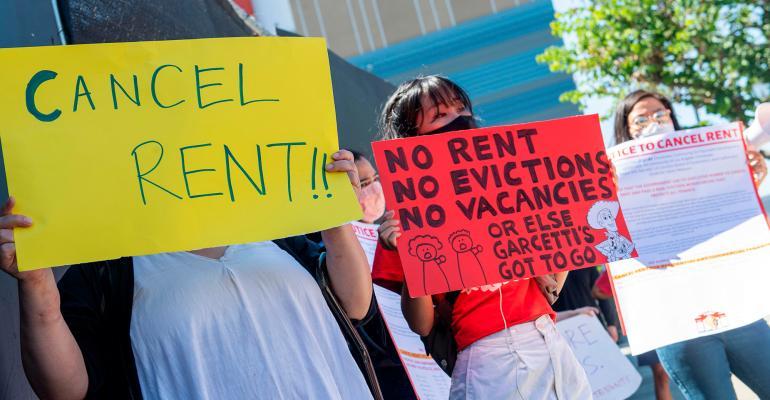renters protest