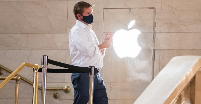 apple logo pandemic