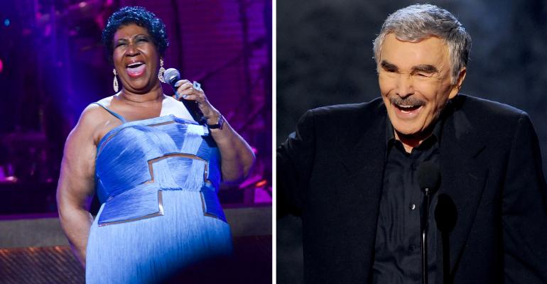 Aretha Franklin and Burt Reynolds