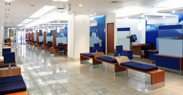 bank branch interior