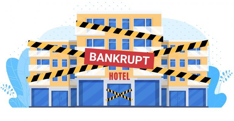 bankrupt hotel