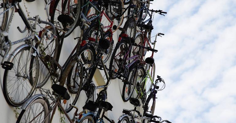bike shop facade