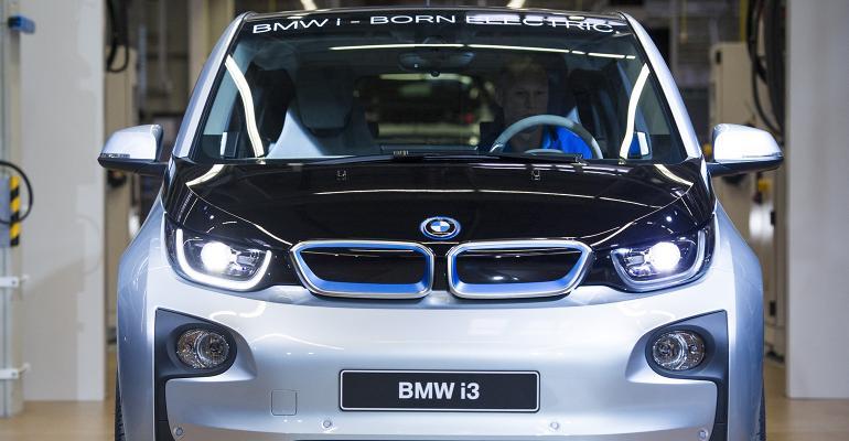 electric BMW car