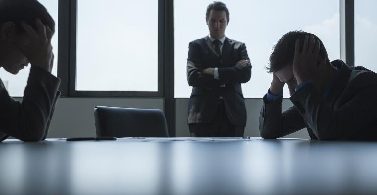 Board meeting tension