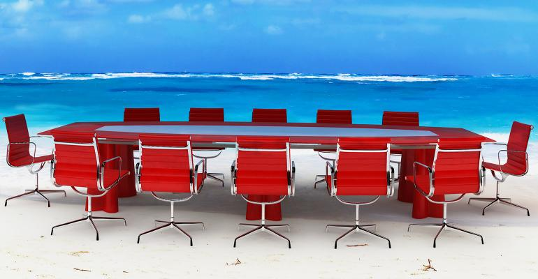 board room table beach