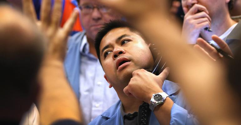 bond trader on phone
