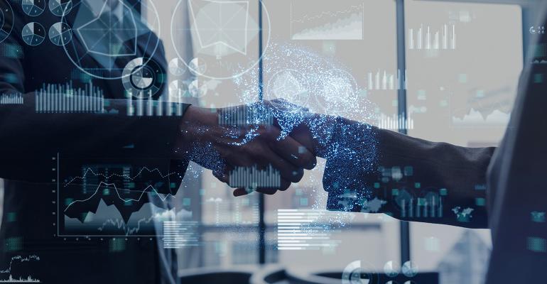 business technology handshake