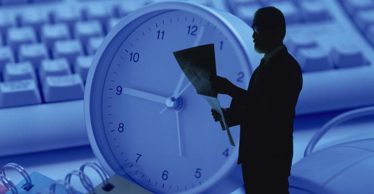 businessman clock
