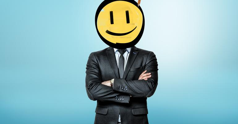 smiley face businessma