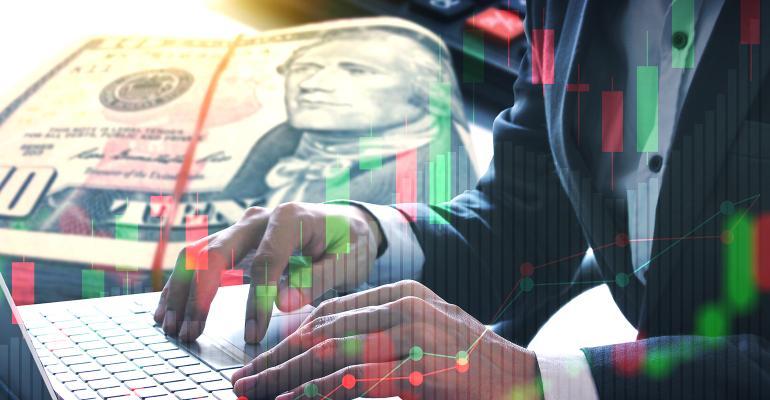 businessman money markets