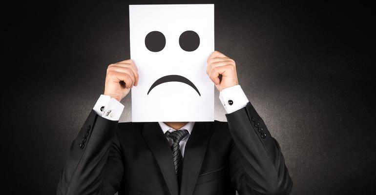 businessman sad emoji