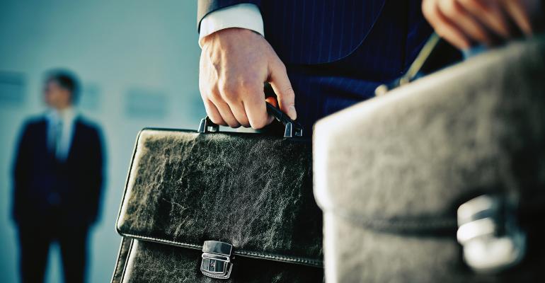 businessmen briefcases