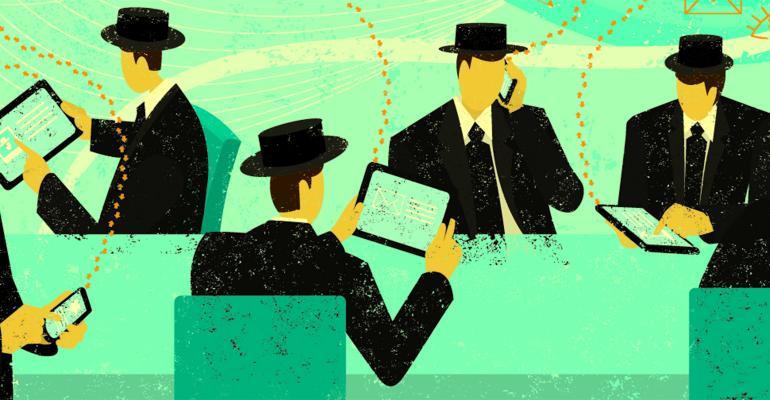 businessmen phones