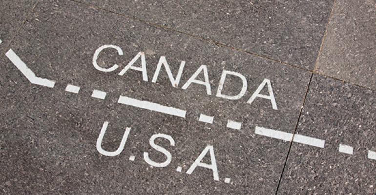 Canada-US dividing line