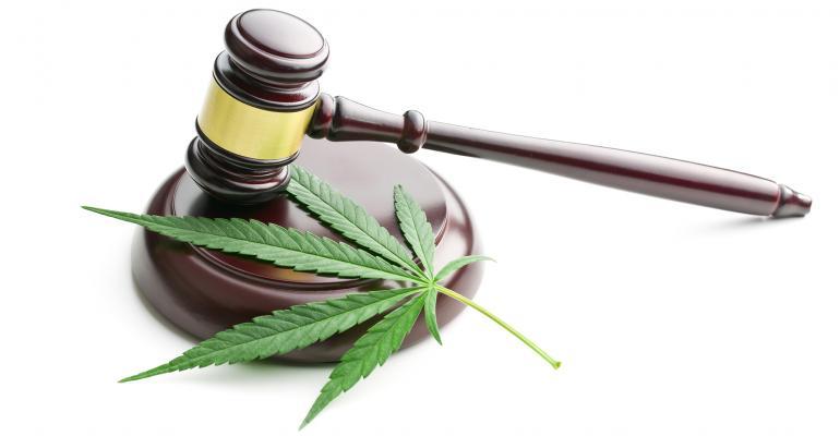 cannabis leaf gavel