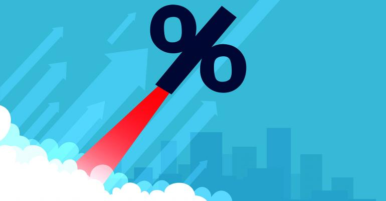 percentage sign rise