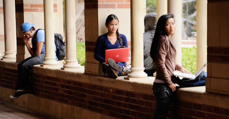 college students UCLA campus