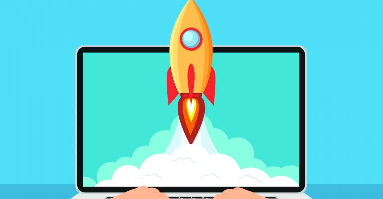 computer rocket launch
