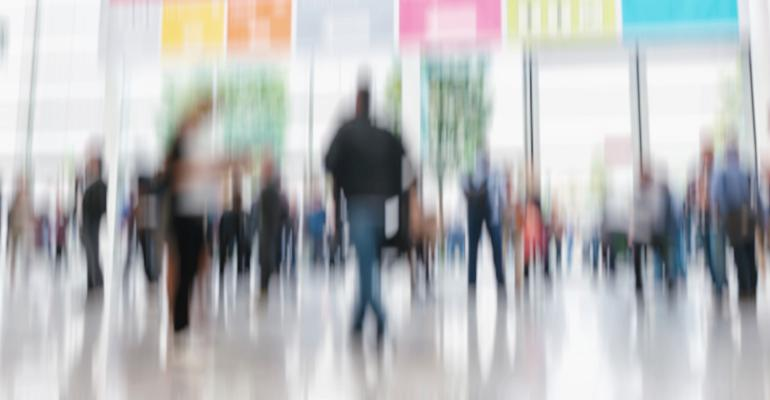 conference trade show blur