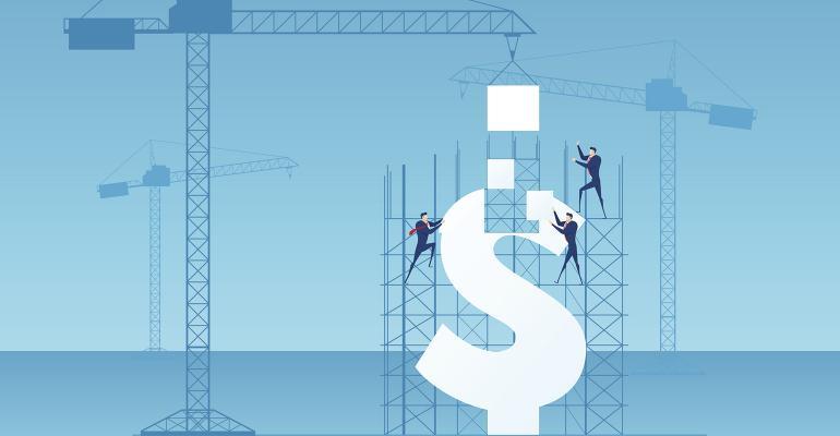 dollar construction crane