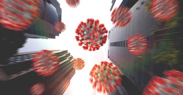 virus cityscape