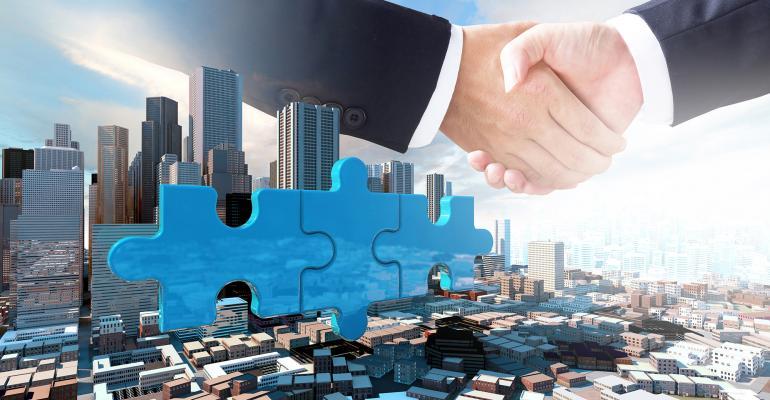 handshake city puzzle pieces