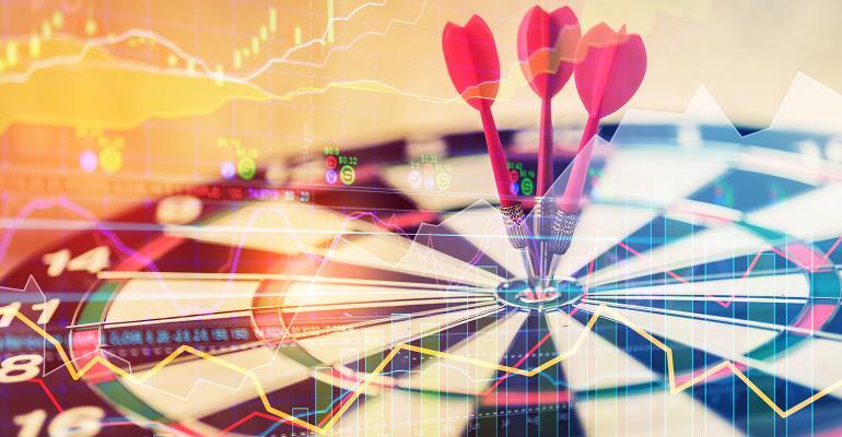 dart board stock market data