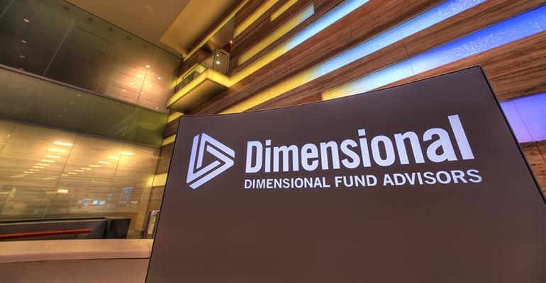 Dimensional Fund Advisors signage