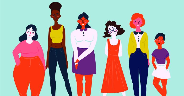 diverse women illustration