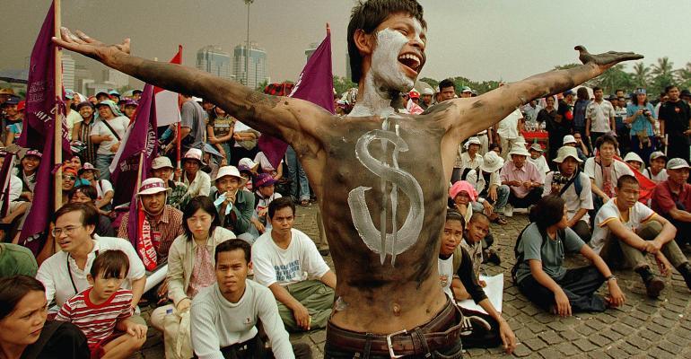 dollar sign bodypaint