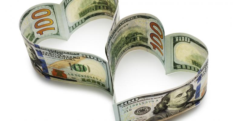 dollars hearts